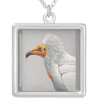 Halsband-Vintage Chicago Konst-Abyssinian fåglar 3 Silverpläterat Halsband