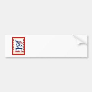 Hälsning för affisch för amerikanpatriotindependen bildekal