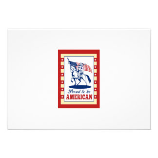 Hälsning för affisch för amerikanpatriotindependen personliga tillkännagivanden