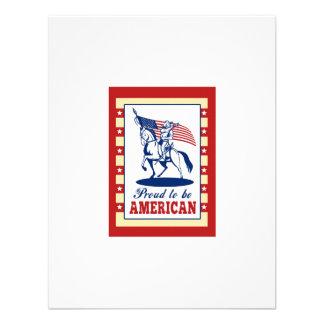 Hälsning för affisch för amerikanpatriotindependen personliga tillkännagivande