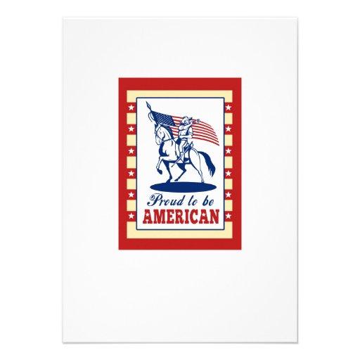 Hälsning för affisch för amerikanpatriotindependen inbjudningskort