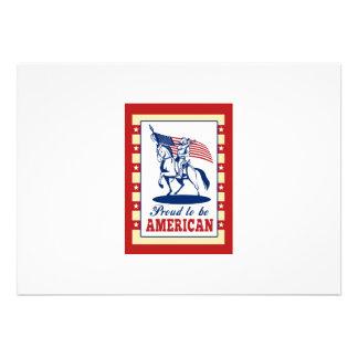 Hälsning för affisch för amerikanpatriotindependen inbjudan