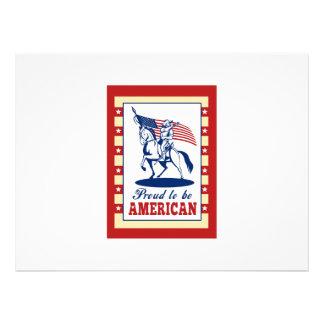Hälsning för affisch för amerikanpatriotindependen anpassade inbjudningskort