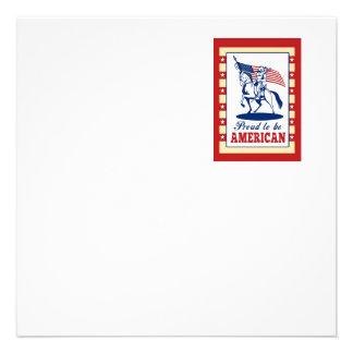 Hälsning för affisch för amerikanpatriotindependen inbjudningar