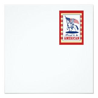 Hälsning för affisch för fyrkantigt 13,3 cm inbjudningskort