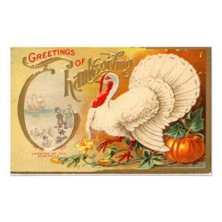 Hälsningar av thanksgivingvitTurkiet vintage Foton