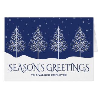 Hälsningar för helgdag för affärsanställdgillande OBS kort