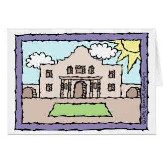 Hälsningar från Alamoen San Antonio Texas Hälsningskort