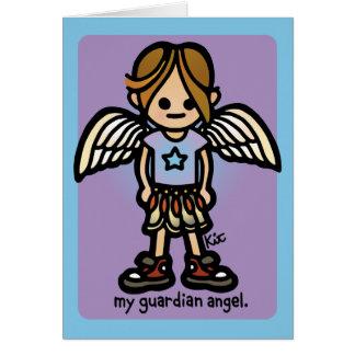 hälsningar från angels. hälsningskort