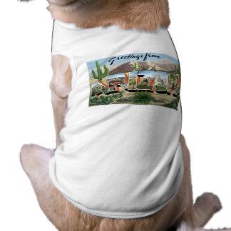 Hälsningar från Arizona! Retro vägresakaktus Hundtröja