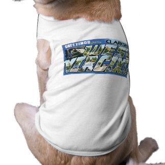 Hälsningar från Clarksburg West Virginia Retro Hund T-shirt