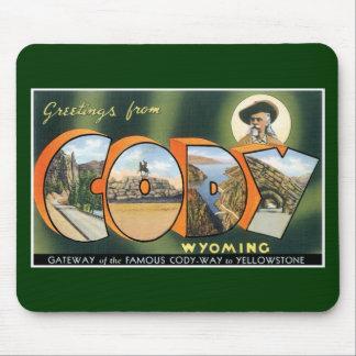 Hälsningar från Cody, Wyoming! Vintagevykort Mus Matta