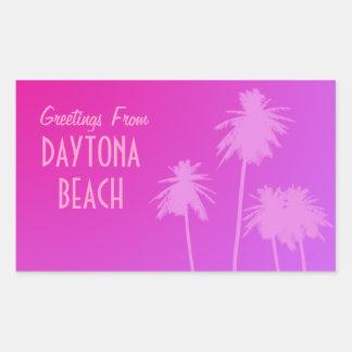 Hälsningar från Daytona Beach klistermärkear Rektangulärt Klistermärke
