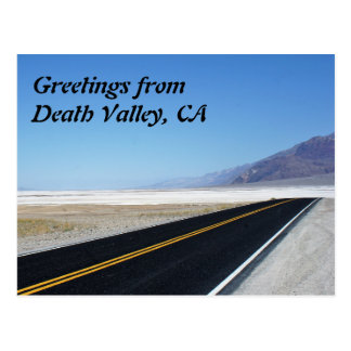 Hälsningar från Death Valley, CA Vykort