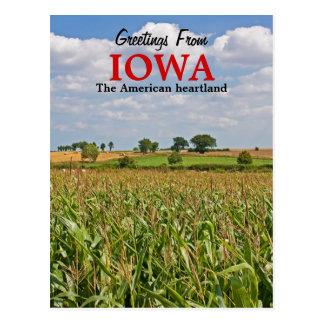 Hälsningar från den Iowa vykortet Vykort