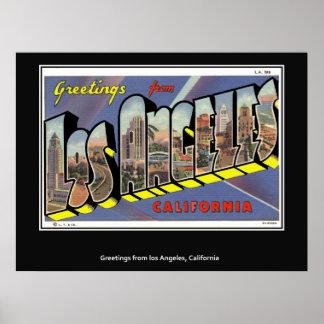 Hälsningar från den Los Angeles Kalifornien Poster