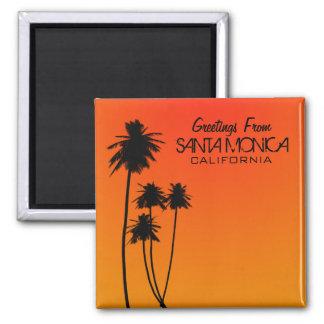 Hälsningar från den Santa Monica magneten Magnet För Kylskåp