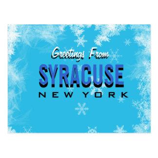 Hälsningar från den Syracuse New York vykortet Vykort