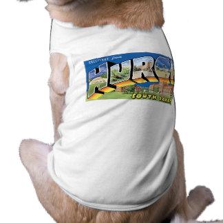 Hälsningar från Huron South Dakota Retro Hund T-shirts
