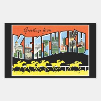 Hälsningar från Kentucky vintagevykort Rektangulärt Klistermärke