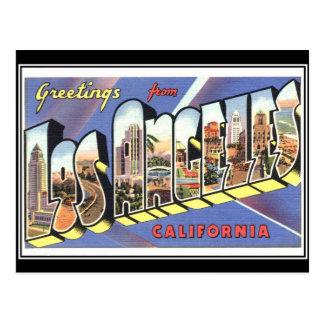 Hälsningar från Los Angeles Kalifornien vintage Vykort