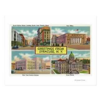 Hälsningar från med sceniskt beskådar 2 vykort