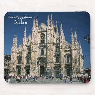 """""""Hälsningar från Milan"""" musmatta"""