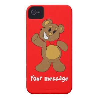 Hälsningar från nalle, tillfogar precis ditt egna iPhone 4 case