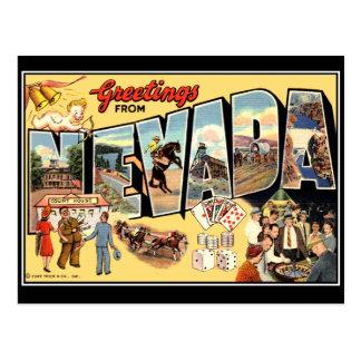 Hälsningar från Nevada vintagevykort Vykort