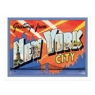 Hälsningar från New York City Amerika Vykort