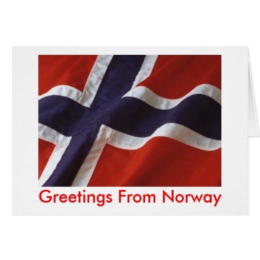 Hälsningar från norge hälsningskort