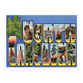 Hälsningar från North Carolina Vykort
