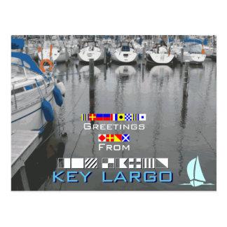 Hälsningar från nyckel- Largo Vykort