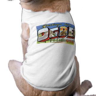 Hälsningar från Ogden Utah Retro vykort T-shirt För Husdjur