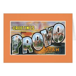 Hälsningar från Provo Hälsningskort