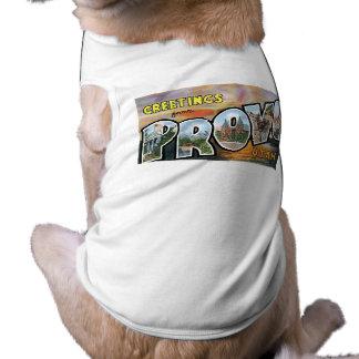 Hälsningar från Provo Utah Retro vykort Hund Tee