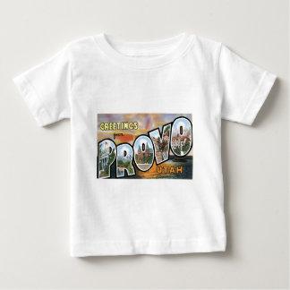 Hälsningar från Provo, Utah!  Retro vykort T Shirt