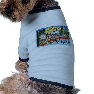 Hälsningar från Roanoke Virginia Retro vykort Hund T-shirt