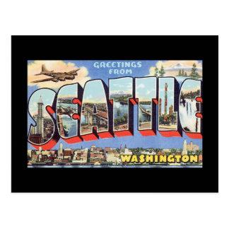 Hälsningar från Seattle Washington_Vintage reser Vykort