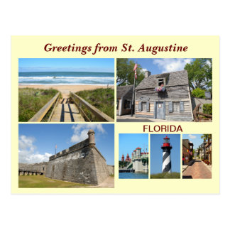 Hälsningar från St Augustine, Florida Vykort