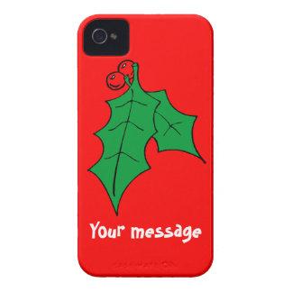 Hälsningar med järnek, tillfogar precis ditt egna Case-Mate iPhone 4 fodral
