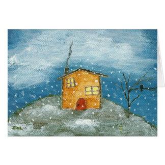 Hälsningen för konst för den tidiga snöstormen OBS kort