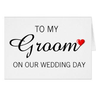 Hälsningkort för brudgum på bröllopsdag hälsningskort