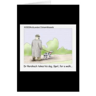 Hälsningkort för Dr. Rorshach Tecknad Hälsningskort
