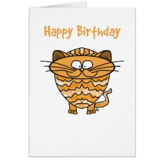Hälsningkort - katt - grattis på födelsedagen hälsningskort