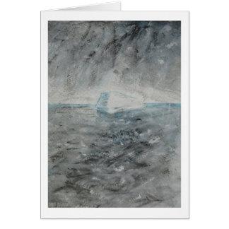 """Hälsningkort - målning """"isberg """", hälsningskort"""