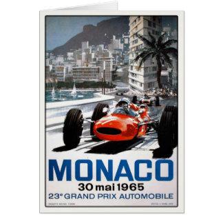 Hälsningkort med den Monaco grand prixaffischen Hälsningskort