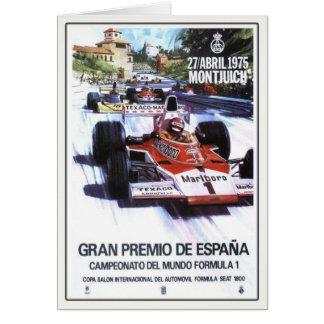 Hälsningkort med den spanska grand prixaffischen hälsningskort