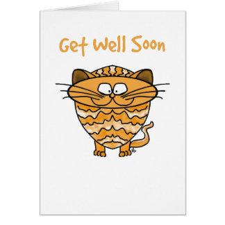 Hälsningkortet - katt - få väl snart hälsningskort