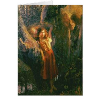 Hälsningskort med Gaston Bussiere målning